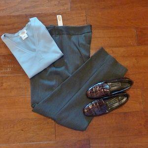 Talbots Bi-Stretch Pants NWT Dark Gray 14